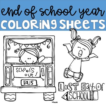 End of Year Coloring Pages by Kerry