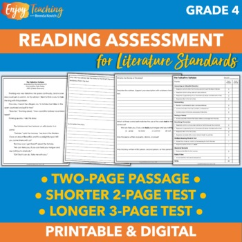 End of Year Reading Assessment for Fourth Grade
