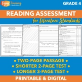 Fourth Grade End of Year Reading Assessment (CCSS Literature Skills)