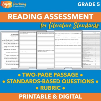 End of Year Reading Assessment for Fifth Grade