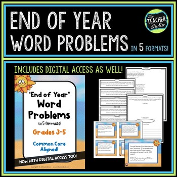 End of Year Common Core Word Problem Collection: Grade 3-5