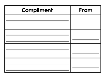 End of the Year Compliment Book (K-6)