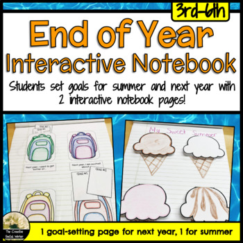 End of Year Counseling Activity Notebook Pages