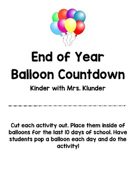 End of Year Countdown