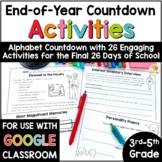 ABC Countdown to Summer   Alphabet Countdown to Summer for Upper Grades