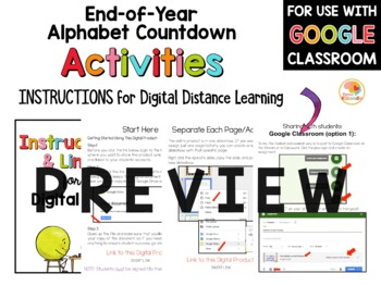 ABC Countdown to Summer | Alphabet Countdown to Summer for Upper Grades