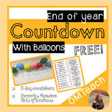 End of Year Countdown Balloon Activity