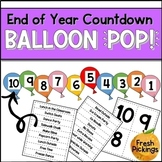 End of Year Countdown Balloon Pop