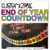 Customizable End of Year Countdown   ABC Countdown and Number Countdown