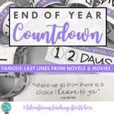 End of Year Countdown:  Famous Last Lines from Novels & Movies {Grades 7-12}