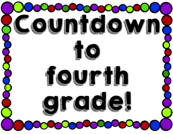 End of Year Countdown Signs {Freebie}