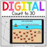 End of Year Counting to 30 Digital Activity   Distance Learning