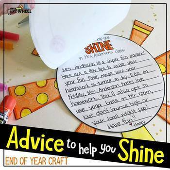 End of Year Craftivity: Advice to Help You Shine {No Prep}