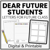 End of Year Dear Future Student Letters