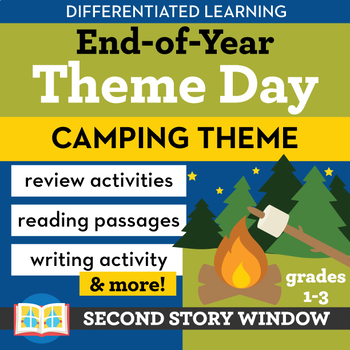 Camping Theme Activities Differentiated End of Year Theme Day • DLITE Day