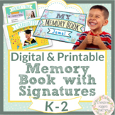 End of Year Memory Book End of the Year Activities Digital