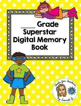 End of Year Digital Memory Book for Google Drive (UK/Canadian Version)