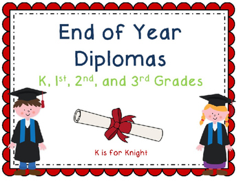 End of Year Diplomas - EDITABLE