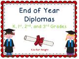 End of Year Diplomas - EDITABLE