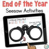 End of Year Digital Memory Book: Preloaded Seesaw Distance