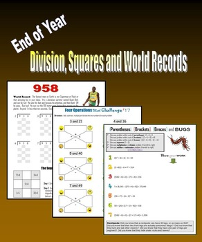 End of Year Division, Squares and World Records