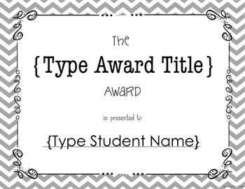 End of Year Class Awards EDITABLE {Printer Friendly Version}