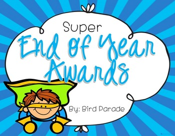 End of the Year Awards - EDITABLE Superlative Awards