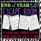 End of Year ELA Escape Room