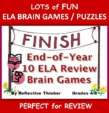 End of Year ELA Review:  Brain Games and Puzzles