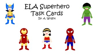 End of Year ELA Task Cards
