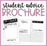 End of Year (EOY) | Student Advice Brochure | Grades 1-6