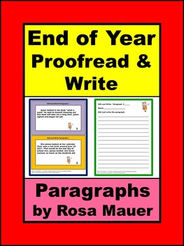 End of Year Proofreading Paragraphs