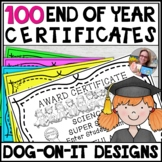End of Year Editable Awards Student Award Certificates