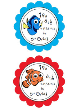 End of Year: Editable Goldfish Gift Tags