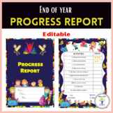 End of Year Editable Progress Report for Preschool-Special Education