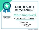 End of Year Editable Student Award #spedprepsummer3