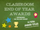 End of Year - Editable Superlative Awards (70 Awards)