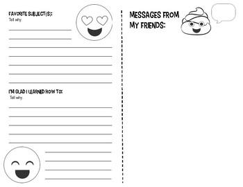 End of Year Emoji Memory Book