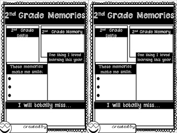 End of Year Emoji Memory Book (Grades 1-5)