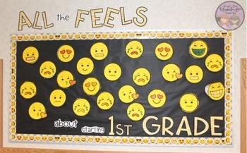 Back to School Emoji Writing and Bulletin Board