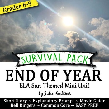 End of Year English Lessons for Teens, BUNDLE #2, All Summer in a Day