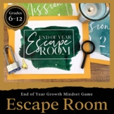 End of Year Escape Room Activity: Growth Mindset, Career Readiness & Mindfulness
