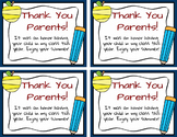 End of Year FREEBIE - Thank You Note to Parents