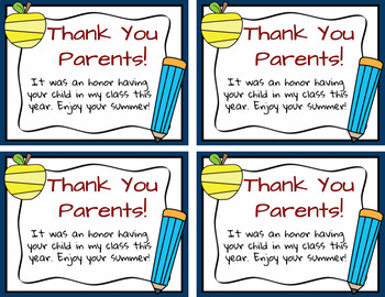 Thank You Notes To Parents Worksheets Teaching Resources Tpt