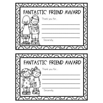 End of Year Fantastic Friend Awards