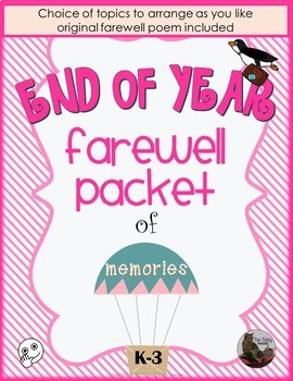End of Year Farewell Packet