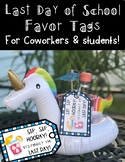 End of Year Favor Tags: Sip, Sip, Hooray! It's the Last Day!
