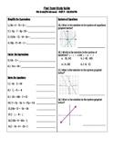Pre-Algebra End of Year Final Exam Study Guide (Part 2 - Calculator Portion)