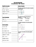 Pre-Algebra End of Year Final Exam Study Guide (Part 2 - C