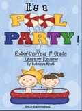 "End-of-Year First Grade Literacy Review-_""It's a Pool Party!"""